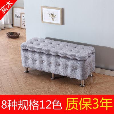 新款欧式换鞋凳鞋柜布艺沙发凳实木储物长条凳尾凳服装店长方形收