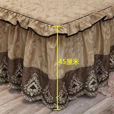 热销加厚夹棉保暖床裙床罩单件天鹅绒蕾丝欧式单双人冬席梦思床套