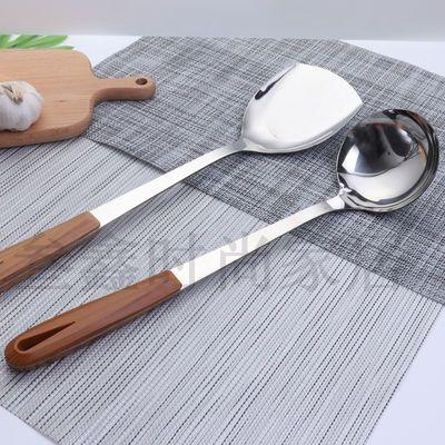 热销加厚加长防烫铁锅铲汤勺子不锈钢锅铲子炒菜锅铲套装铲子厨房