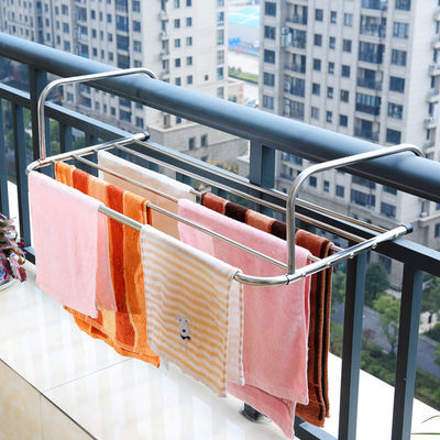 爆款晾衣架折叠不锈钢阳台晒鞋架伸缩暖气片窗台尿布晾晒架毛巾挂