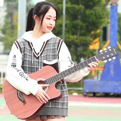 热销正品单板吉他41寸民谣木制吉他初学者男女学生入门练习琴成人