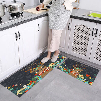 厨房地垫长条防油脚垫防水防滑可水洗浴室吸水门垫耐脏家用可定制