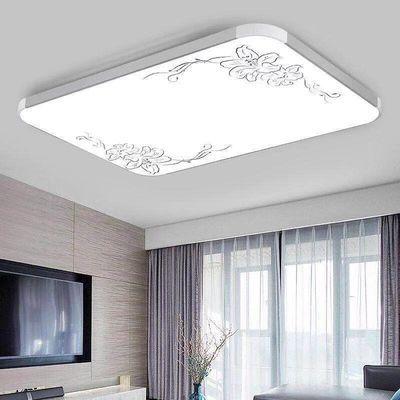 LED吸顶灯长方形铝材大气客厅灯饰现代简约卧室灯餐厅灯阳台灯具