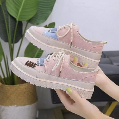 2019秋季新款鞋子女学生帆布鞋韩版百搭原宿风板鞋平底布鞋女单鞋