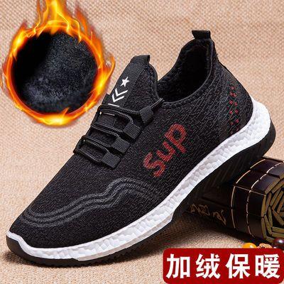 老北京二棉鞋男冬季加绒保暖爷爷冬鞋中年爸爸男士运动休闲鞋冬款
