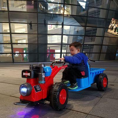 贝多奇拖拉机 儿童手扶电动车 东方红Mini拖拉机充电可坐人 顺丰
