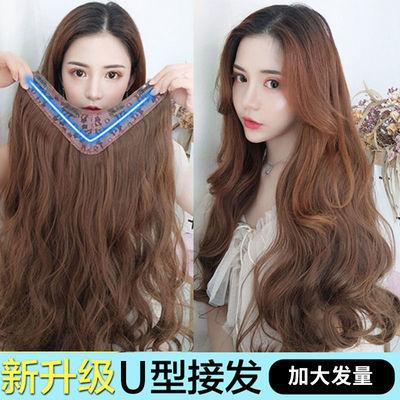 假发女长卷发大波浪一片式自然假发套U型无痕接发发片假发女长发