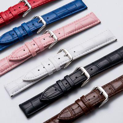 手表带真皮针扣配件卡西欧皮表带男女通用代用DW美度天梭表带