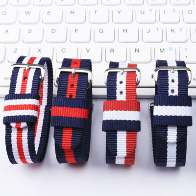 适用dw尼龙手表带帆布情侣男女通用时尚针扣表带配件 颜色多选