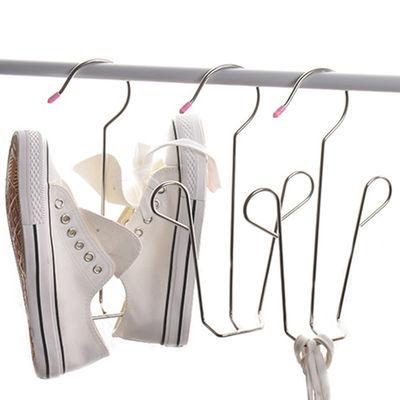 不锈钢晾鞋架晒鞋架子阳台窗台挂钩多用防风鞋子挂鞋子收纳架神器