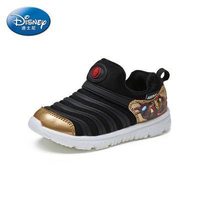 Disney迪士尼钢铁侠系列冬季新款儿童鞋加绒保暖毛毛鞋运动男童鞋