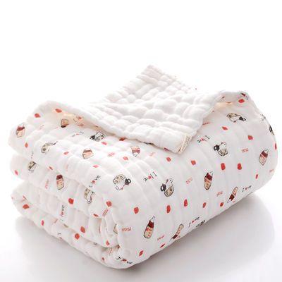 婴儿浴巾纯棉六层纱布泡泡纱布被子宝宝童被新生儿童洗澡浴巾
