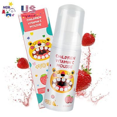 77881/MDB儿童慕斯泡沫牙膏草莓葡萄口味无氟婴儿宝宝换牙期按压式防蛀