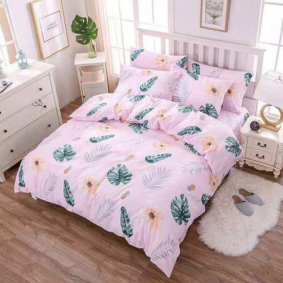 爆款纯棉被套单件1.5米1.8米单双人床简约公主风卡通100%全棉斜纹