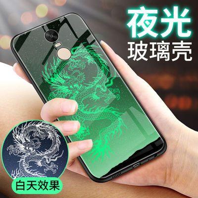 小米红米note4玻璃手机壳RedmiNote4保护套夜光红米note4创意潮壳