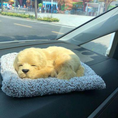 仿真狗狗摆件 可爱毛绒公仔汽车内饰品 模型宠物动物狗狗仿真动物
