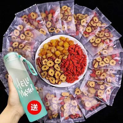 桂圆红枣枸杞茶女人养生玫瑰补气血花茶组合水果菊花茶10包150克