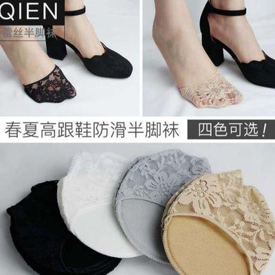 脚头韩版指尖袜防滑包头学生高跟鞋单鞋半截袜子夏季公主包脚半码