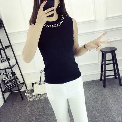 工字背心女2019夏季新款韩版修身无袖t恤内搭针织打底衫外穿上衣