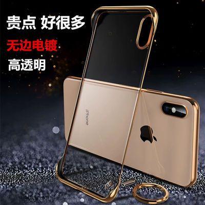 新款苹果x手机壳iphone8透明xsmax无边框xr网红7plus超薄防摔男女