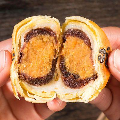 雪媚娘蛋黄酥红豆手工馅饼糕点月饼网红早餐食品整箱批发休闲零食