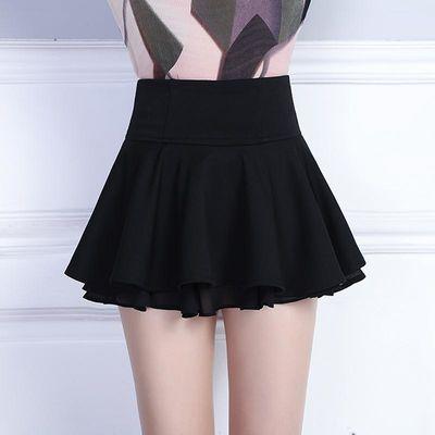 秋季加厚打底防走光裤裙超短裙百褶性感荷叶边蓬蓬裙子伞裙半身裙