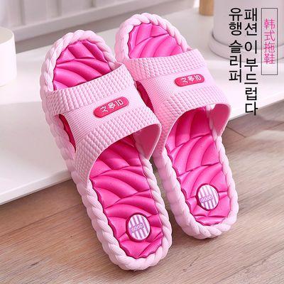 拖鞋女夏防滑防臭厚底家用室内浴室洗澡家居室外拖鞋女士外穿韩版