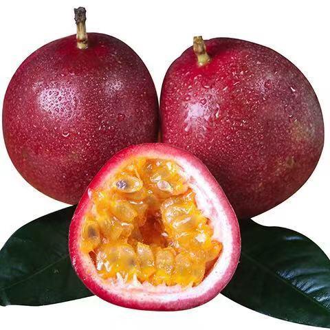 广西百香果热带水果新鲜鸡蛋果酱原浆10/3/5/1斤装大红果整箱包邮_3