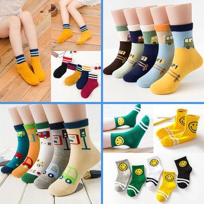 【五双装】秋冬儿童袜子男童女童宝宝小孩中筒袜男孩童袜婴儿袜子主图
