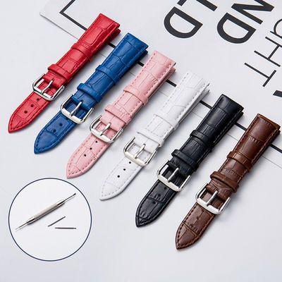 代用天梭卡西欧天王dw真皮手表带男女通用针扣皮带配件