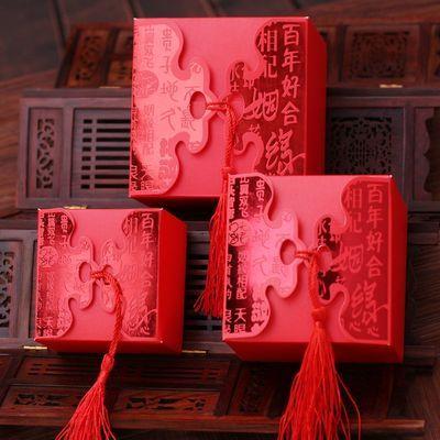 50个喜糖盒子结婚喜糖盒礼盒婚庆伴手礼盒纸盒创意欧式婚礼糖果盒【4月3日发完】