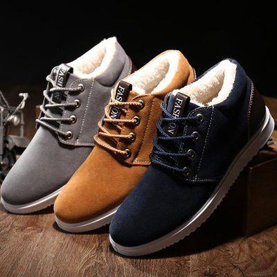 冬季男棉鞋加绒加厚防滑登山鞋休闲男鞋雪地靴学生鞋老北京棉布鞋
