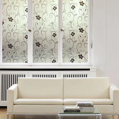 2米长】玻璃贴膜防水窗花纸浴室磨砂贴纸窗户贴膜遮光防晒防爆膜