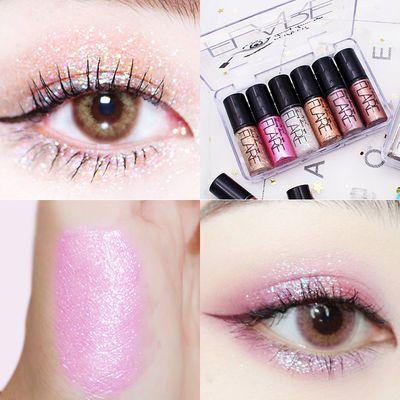 6色液体眼影套装 超闪钻石亮片眼角装饰套盒全套组合亮晶晶李佳琦