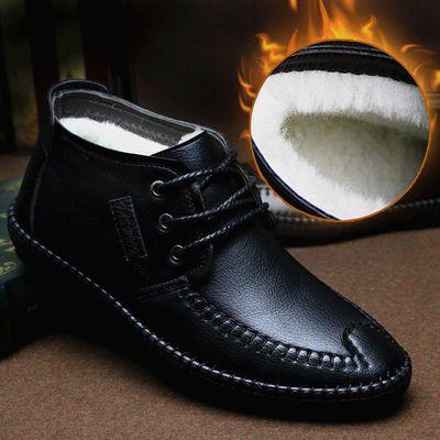 棉鞋男冬季男鞋加绒保暖鞋高帮鞋中老年爸爸鞋棉皮鞋冬鞋男士鞋子