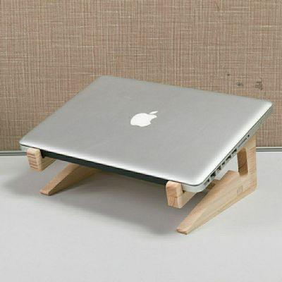 实木笔记本电脑支架立式增高架垫高支架散热底座颈椎桌面创意包邮