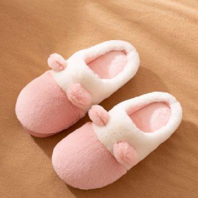 秋冬季居家用卧室内毛毛棉拖鞋男女情侣学生可爱月子鞋包跟韩版潮