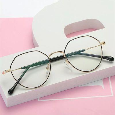 韩版多边形眼镜女有度数近视眼镜男网红款眼镜框架女学生配近视镜
