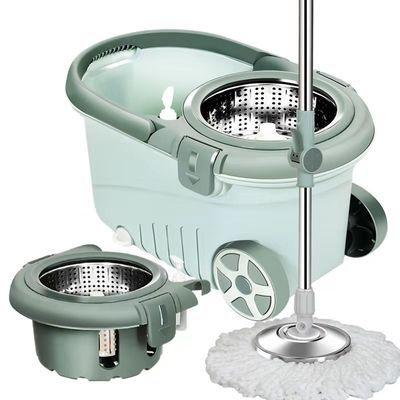 拖把桶旋转式通用杆免手洗自动拖布桶家用甩干拖桶干湿两用墩布桶
