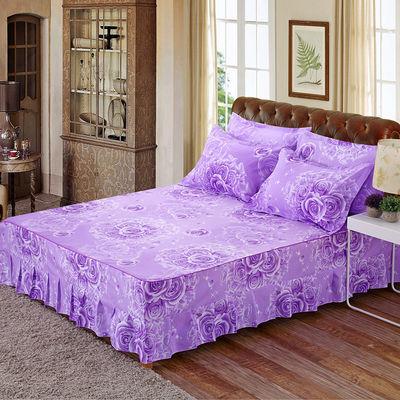 【韩版防滑床裙】床裙三件套床罩床围席梦思床保护套床裙+枕套