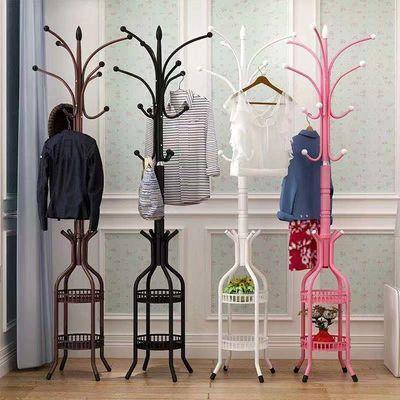 儿童简约现代衣帽架衣架卧室家用挂衣架创意树叶可爱艺术落地