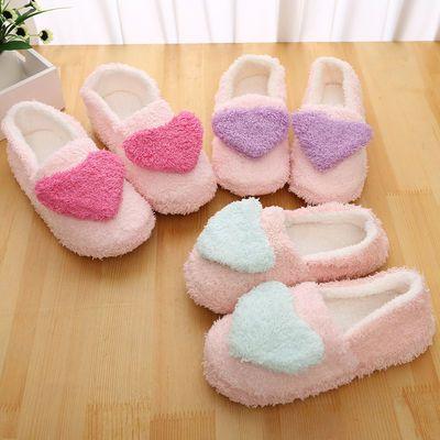 棉拖鞋女士包跟秋冬季简约家居用冬天情侣毛毛拖鞋男一脚蹬月子鞋