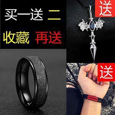 戒指男潮个性霸气单身社会指环韩版学生时尚食指嘻哈炫酷情侣戒指