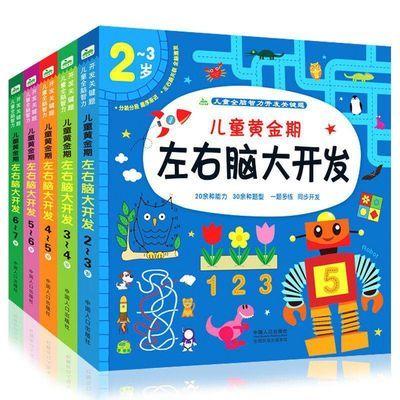 全5册左右脑大开发 2-3-4-5-6-7岁黄金期儿童早教益智玩具亲子书