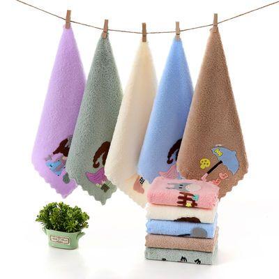 珊瑚绒儿童毛巾比纯棉柔软吸水幼儿园宝宝婴儿洗脸小毛巾方巾手帕