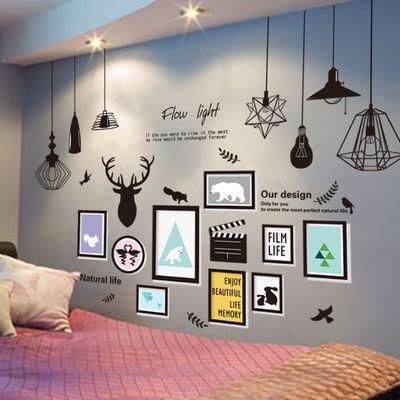 3D立体墙贴画贴纸卧室宿舍房间装饰品ins网红背景墙壁纸墙纸自粘