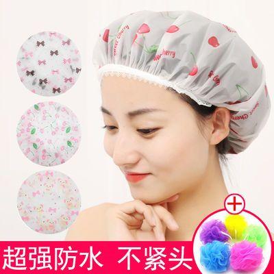 浴帽头套可爱浴室帽防水成人儿童女款加厚洗澡厨房防油烟帽子浴球