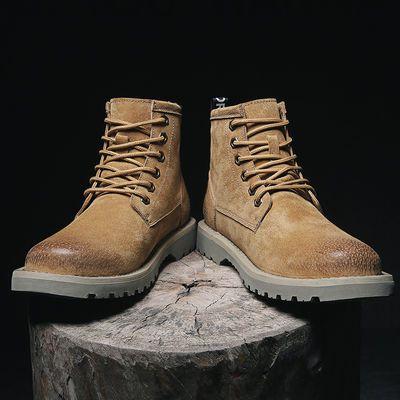 马丁鞋男夏季鞋子潮鞋韩版休闲大头皮鞋英伦短靴子低帮复古工装鞋