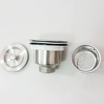 正品不锈钢下水器洗碗盘下水口配件老式厨房洗菜盆下水管配件单槽