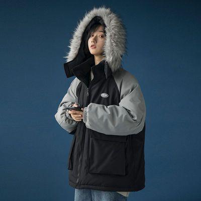 棉袄女学生冬季新款韩版宽松棉衣大毛领棉服加厚保暖面包服外套女主图